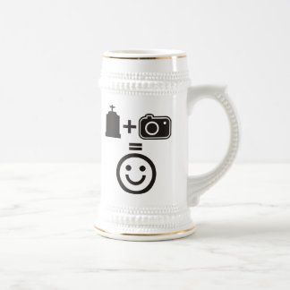 Cemetery Photography Smiley Beer Stein