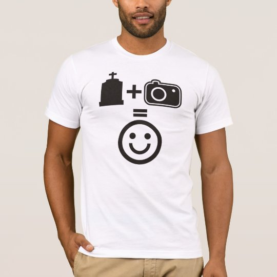 Cemetery Photography Smiley T-Shirt