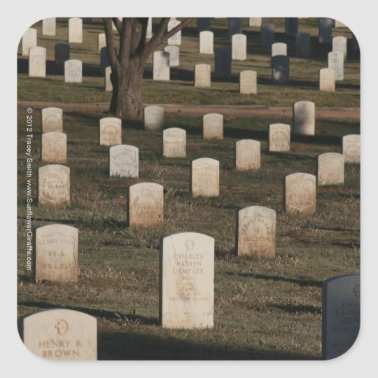 Cemetery Photography - Veterans Day - Memorial Day Square Sticker