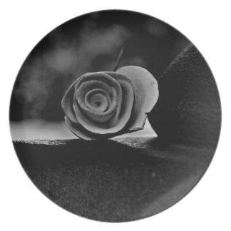 Cemetery Rose Dinner Plate