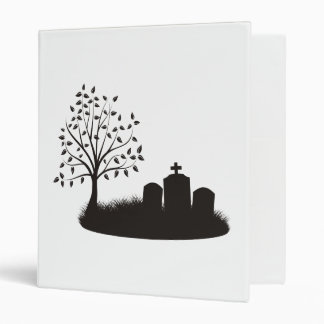 Cemetery Scene 3 Ring Binder