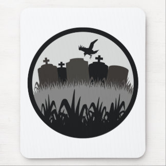 Cemetery Scene Mouse Pad