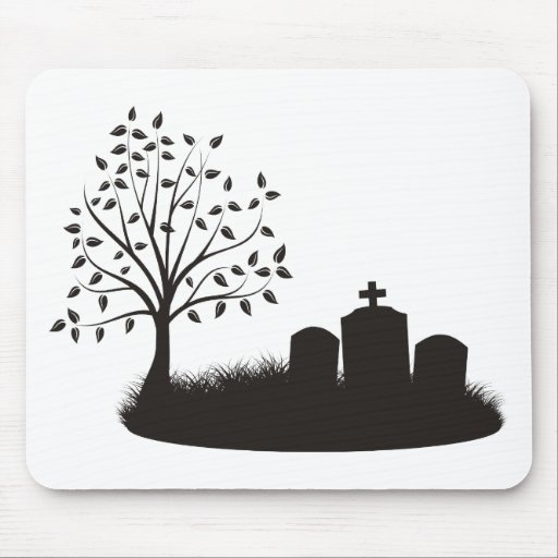 Cemetery Scene Mouse Pad