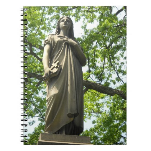 Cemetery Statue with Trees Note Book