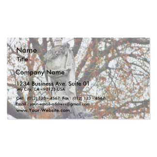 Cemetery Statues Vases Business Card