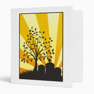 Cemetery Sunburst 3 Ring Binder