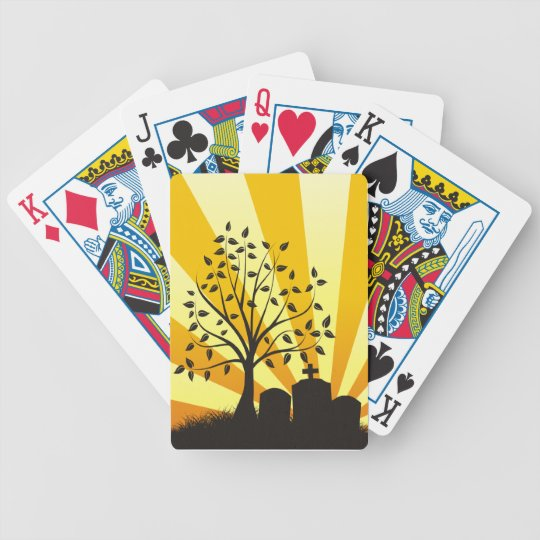 Cemetery Sunburst Bicycle Playing Cards