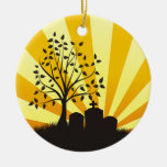 Cemetery Sunburst Christmas Tree Ornaments