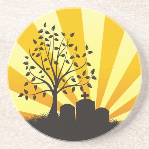 Cemetery Sunburst Coasters