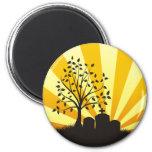Cemetery Sunburst Fridge Magnet