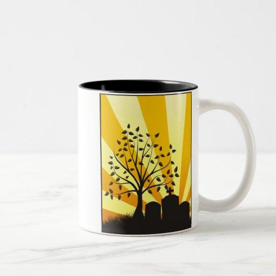 Cemetery Sunburst Two-Tone Coffee Mug