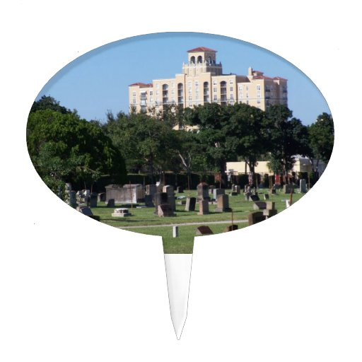 Cemetery west palm beach florida trees n buildings cake toppers