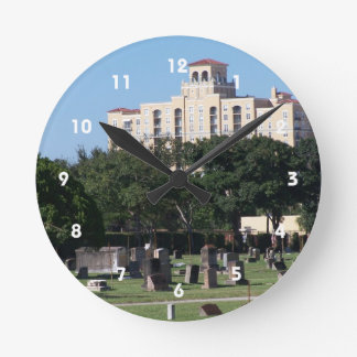 Cemetery west palm beach florida trees n buildings round clock
