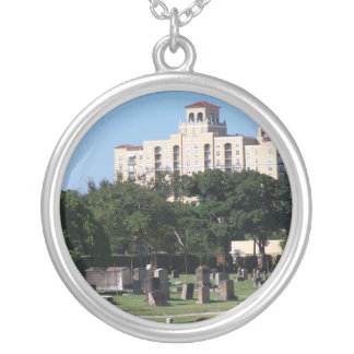 Cemetery west palm beach florida trees n buildings round pendant necklace