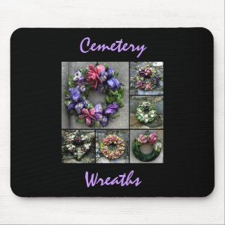 Cemetery wreaths mouse pad
