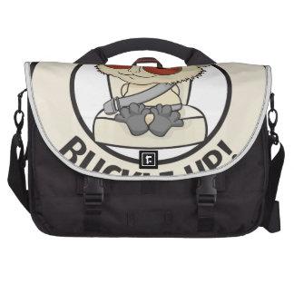 Ceña a sus niños para mostrarle que ámelos bolsas de portatil