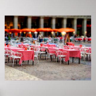 Cena al aire libre impresiones