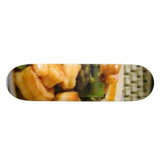 Cena amarga dulce de la comida del espárrago de la tablas de skate