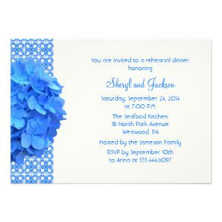 Cena azul del ensayo del cordón y de los Hydrangea Comunicados Personales