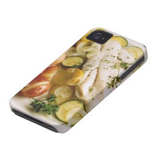 Cena cocida de los pescados iPhone 4 protectores
