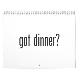 cena conseguida calendario de pared