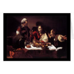 Cena de Caravaggio en Emmaus Felicitacion