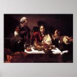 Cena de Caravaggio en Emmaus Impresiones