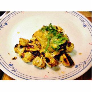 Cena de Ckicken Tikka que cocina al indio de la co Fotoescultura Vertical