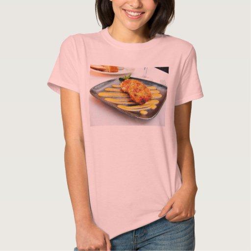 Cena de Crabcakes de la comida Camisetas