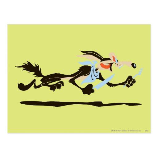 Cena de E. Coyote Chasing del Wile Tarjeta Postal