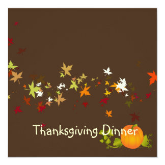 Cena de la acción de gracias, hojas de arce