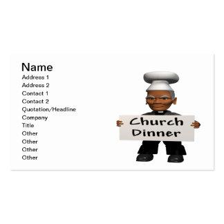 Cena de la iglesia tarjeta personal