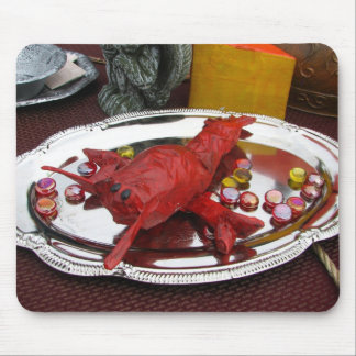 Cena de la langosta alfombrilla de ratones