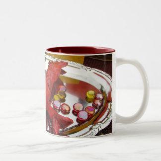 Cena de la langosta tazas de café