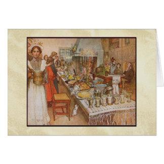 Cena de la Nochebuena de Carl Larsson Tarjeta De Felicitación
