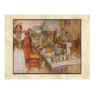 Cena de la Nochebuena de Carl Larsson Tarjeta Postal