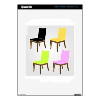 cena de la silla iPad 3 skin