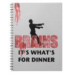 Cena de los cerebros del zombi cuadernos