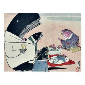 Cena de los marineros rusos por Kobayashi, Tarjetas Postales