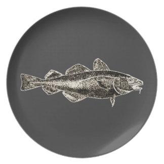 Cena de los pescados plato de cena