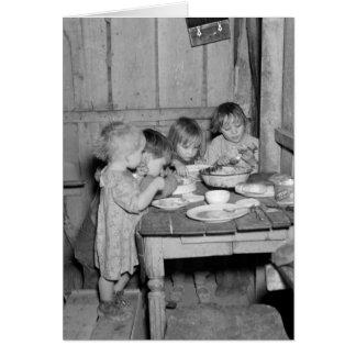 Cena de navidad 1936 tarjeta de felicitación