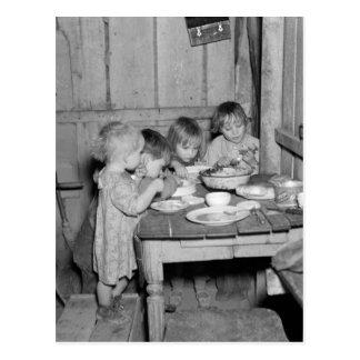 Cena de navidad 1936 tarjetas postales