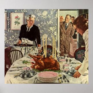 Cena de Turquía del día de la acción de gracias de Impresiones