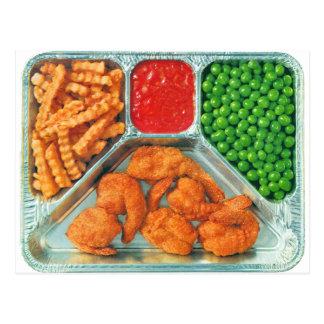 Cena de TV retra del kitsch del vintage 'Shrimp Postal