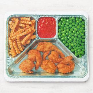 Cena de TV retra del kitsch del vintage 'Shrimp Tapetes De Ratones