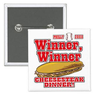 Cena del Cheesesteak del ganador de Philly Pins