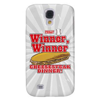 Cena del Cheesesteak del ganador del ganador del b Funda Para Galaxy S4