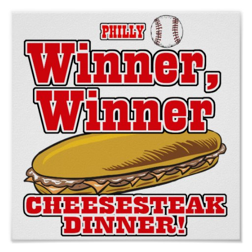 Cena del Cheesesteak del ganador del ganador del b Impresiones