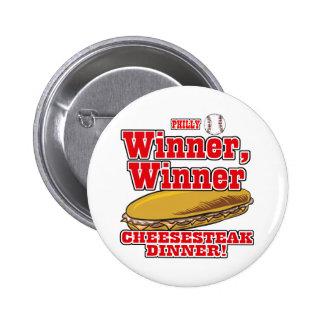 Cena del Cheesesteak del ganador del ganador del b Pins