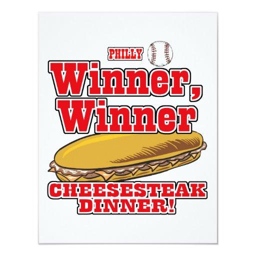 Cena del Cheesesteak del ganador del ganador del Anuncio Personalizado